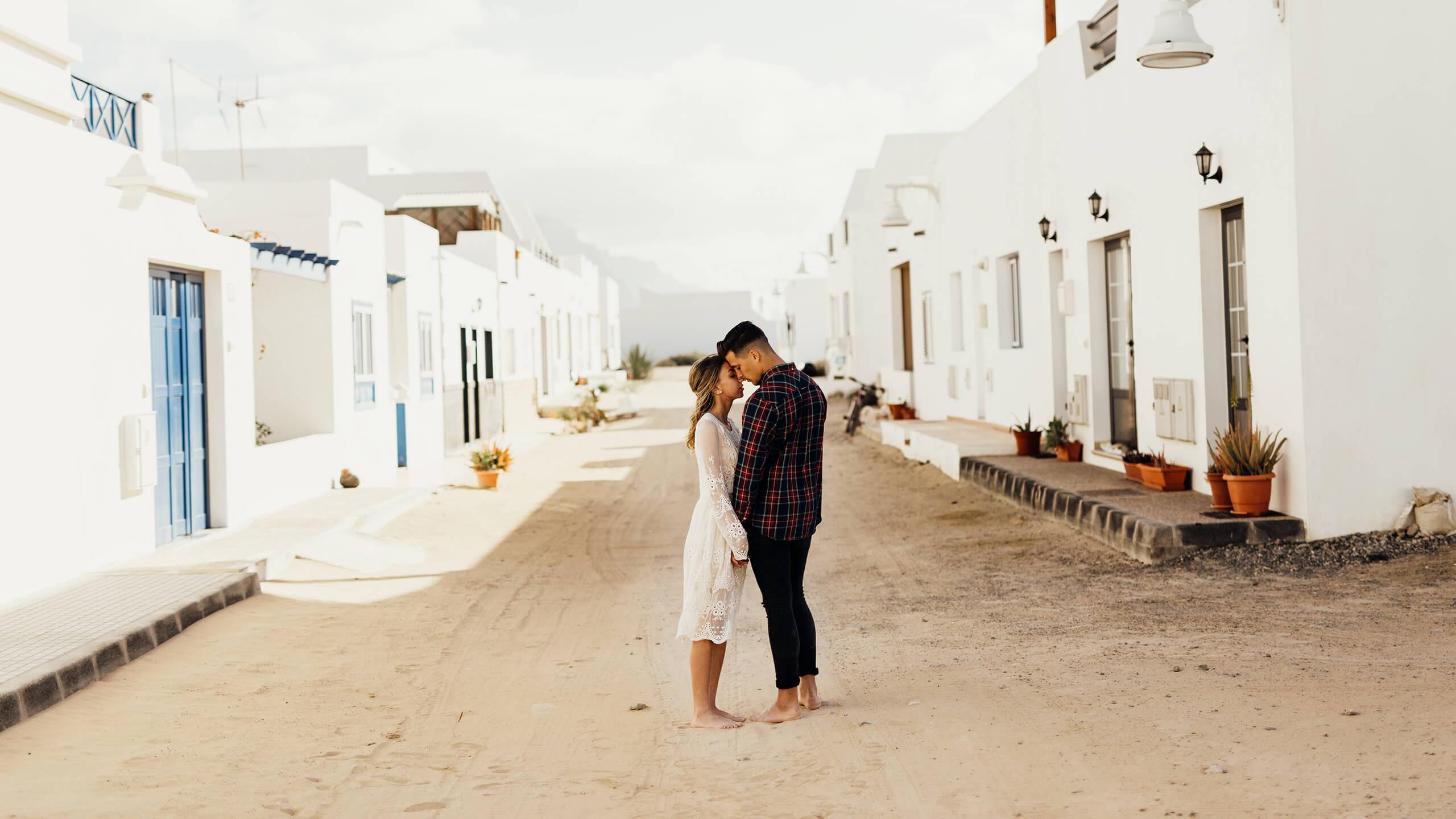 Maria i Christian Plener na Lanzarote